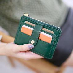 Slim Women Faux Leather Clutch Wallets Handbag Purse Id Card Mini Bag Checkbook