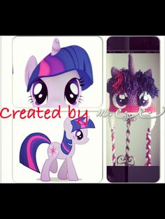 Twilight Sparkle, My Little Pony inspired crochet beanie / hat with earflaps and braids baby to adult sizes on Etsy, $35.00