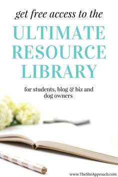 Get free lifetime access to my fully equipped resource library for bloggers, students, biz owners and entrepreneurs and even proud pet parents.  Find all the tools you need to start a blog, run a business or manage your social media accounts.  A free ebook on how to make affiliate sales with Pinterest and a puppy essentials checklist are included.  Find all the blogging resources, tips and tools you can ever need. Sign up today!