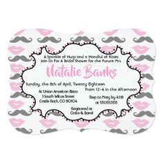 Vintage Love Bridal Shower Invitation - wedding invitations cards custom invitation card design marriage party