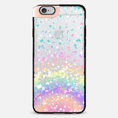 Pastel Rainbow Confetti Explosion Transparent iPhone 6 Plus Metaluxe Case by Organic Saturation | Casetify Get $10 off using code: 53ZPEA