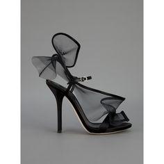 Dolce & Gabbana Mesh Detail Sandal Pump ($690) ❤ liked on Polyvore