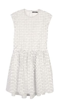Tibi - Ribbon Fil Coupe Drop Waist Dress