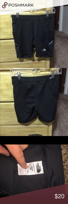 North face spandex running shorts Perfect condition, only worn a couple of times. Pockets on side. North Face Shorts