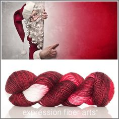 HO HO HO Limited Edition Santa-inspired yarn by Expression Fiber Arts