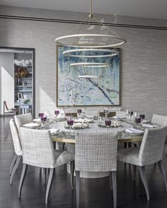 Dining room by interior designer Jamie Drake