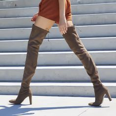 The ALLLEGS: Make sexy strides in the extreme thigh-high boot. #inourshoes