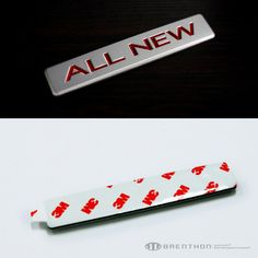 "BRENTHON ""ALL NEW"" & ""THE NEW"" lettering emblem"
