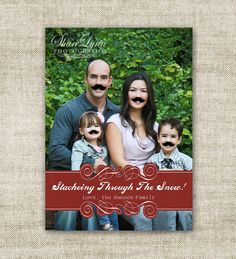 mustache christmas card - Google Search