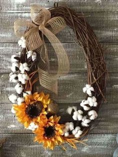 Next time you're at Hobby Lobby, buy 1 grapevine wreath and copy this gorgeous fall front door idea!