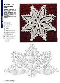 World crochet: Napkin 472 World crochet: Napkin 472 Learn the basics of how to needlecraft (generic Mandala Au Crochet, Crochet Doily Diagram, Crochet Stars, Crochet Buttons, Crochet Doily Patterns, Thread Crochet, Crochet Designs, Crochet Doilies, Crochet Stitches