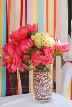 Sprinkle Filled Vase