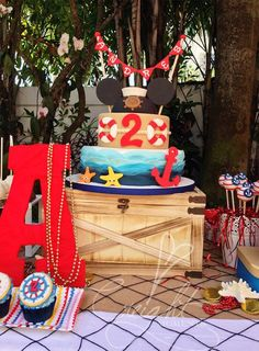 Nautical Mickey Mouse Party, perfect for our new poolside paradise backyard!