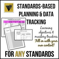 Standards-Based Planning and Data Tracking for ANY CONTENT Secondary Data, Teaching Secondary, Ap Language And Composition, Data Tracking, Tracking System, Standards Based Grading, Learning Objectives, Mastery Learning, Ap Literature