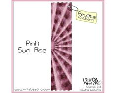 Peyote Bracelet Pattern: Pink Sun Rise - INSTANT DOWNLOAD pdf - 3 for 2 offer  with coupon codes by VikisBeadingPatterns on Etsy