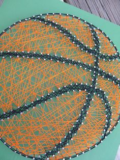 Made to Order String Art Basketball Sign by BlossomingBurlap