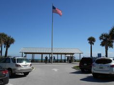 Pavilion at the beach in Hobe Sound off of Bridge road.