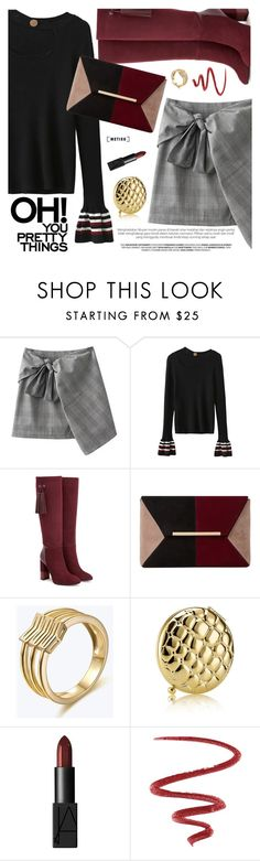 """""""Preppy Chic"""" by metisu-fashion ❤ liked on Polyvore featuring Aquatalia by Marvin K., Dune, Estée Lauder, NARS Cosmetics, L'Oréal Paris, polyvoreeditorial, polyvoreset and metisu"""