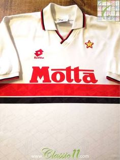 Official Lotto AC Milan away football shirt from the 1993/1994 season.