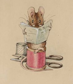Beatrix Potter. I love all her animal drawings and how she personifies them so adorably. <3