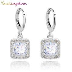 5e9a044bf Yunkingdom 5 Colors New Hot Sale Gold Color Zircon Gem Big Brand earrings  Small Dangler for Women Fashion Jewelry - TakoFashion - Women's Clothing &  Fashion ...