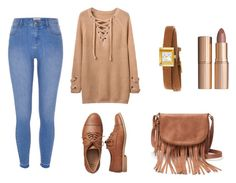 """"""":)"""" by aida1412 ❤ liked on Polyvore featuring River Island, Gap, Apt. 9, Gucci and Charlotte Tilbury"""