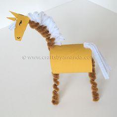 Cardboard Tube Horse: The Farm Series   Crafts by Amanda