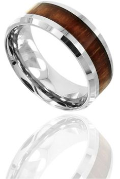 Barrel Ceramic Koa Wood Ring Ring crafts Unique mens rings and Ring
