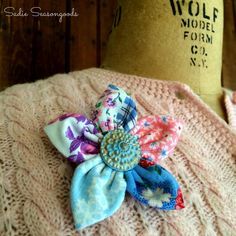 Craft Stash Flower Brooches