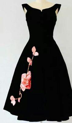 Black & Pink Floral Dress...Pretty