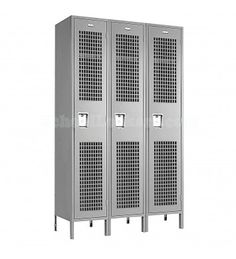 single tier wide ventilated lockers