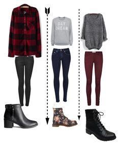 """School"" by margot-52 ❤ liked on Polyvore featuring Topshop, H&M, rag & bone, Zoe Karssen, Dr. Martens, Vero Moda and Bamboo"