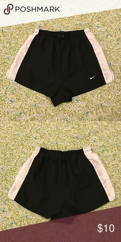 """Nike Running Shorts ▫️Elastic waist with drawcord for a personalized fit ▫️Built-in brief increases comfort and support ▫️Interior stash pocket ▫️Reflective Swoosh™ at lower left leg ▫️12.5"""" Length                                                         Happy Poshing! 🛍👗👚👠 Ships Next Day 📦 Price Negotiable💰 Smoke-Free Home 🚬 Pet-Free Home 🐶🐱 Nike Shorts"""