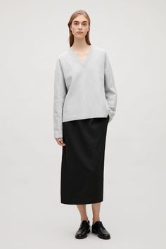 4293d1d13cf20 COS | Wavy stitch top Long Sleeve Tops, Cos, Knitwear, Cashmere, Normcore
