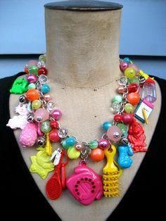 Vintage Necklace, Charm Necklace, Toy Necklace -Toy Story. via Etsy.