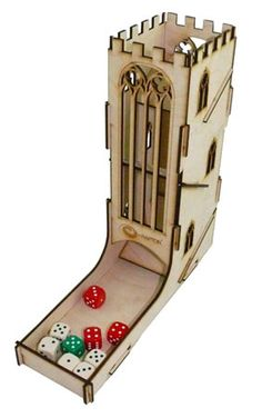 Cool, das hat was :) : e-Raptor Würfelturm Tower DIY (Holz) Real Castles, Dice Tower, Medieval Fantasy, How To Make Ornaments, Board Games, Cool Stuff, Towers, Cards, Diy