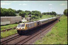 VIA rail LRC train near Toronto in 1989
