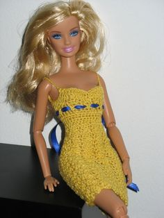 Barbie Shell Dress Crochet Pattern by Livingwater