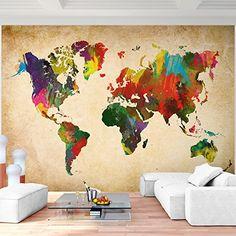 Superb  Weltkarte f r Kinder Tiere Sehensw rdigkeiten Beliebige andere Ma e und Bildtr ger m glich uac f r A f r die Kleinen Pinterest Weltkarte f r