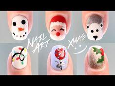 6 DISEÑOS DE UÑAS DE NAVIDAD PASO A PASO | sin herramientas de nail art | Belleza
