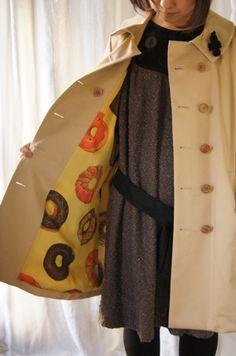 bortsprungt donut coat