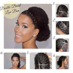LANAYEL : Beautés Noires, Métisses et du Tout-Monde: Idée de coiffure pour un mariage en hiver sur cheveux crépus