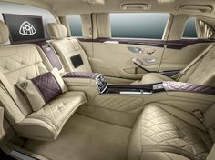 Mercedes stretches the Maybach into limousine form / The Mercedes-Maybach Pullman with the Mercedes-Benz 600 Pullman / The highlight of the Pullman is its four-seat cabin Mercedes Benz Maybach, Mercedes 600, Pullman Mercedes, Maybach Car, Yacht Design, Volkswagen Golf, Most Expensive Luxury Cars, Automobile, Rolls Royce Phantom