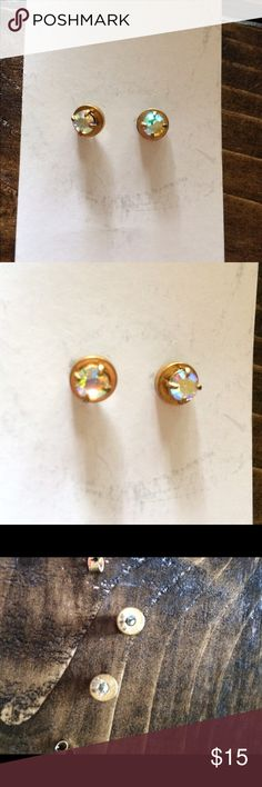 J. Crew Women's Stud Earrings Gorgeous! The metal on the back has some tarnishing as pictured Jewelry Earrings