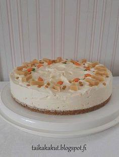 Hei! Tein tyttären syntymäpäiväjuhliin tätä omar-juustokakkua jota aiemmin jo testasin. Tytär tykkää tosi paljon Omar-karkeista niin olih... Yummy Eats, Yummy Food, Buzzfeed Tasty, Cheesecake Recipes, Cheesecakes, No Bake Cake, Vanilla Cake, Cake Decorating, Sweet Tooth