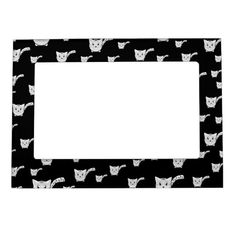 Shop Black & White Kitty Pattern Magnetic Frame created by thepawkinglot. Magnetic Picture Frames, Creature Comforts, Cherished Memories, Succulents Diy, Business Supplies, Pet Shop, Printing Process, Filing Cabinet, Colorful Backgrounds