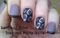Black & nude #matte #nailart inspired by #leopard #nails - For more easy ideas please visit: https://www.youtube.com/user/LifeWorldWomen Thank you!