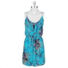 Soprano Juniors Abstract Floral Ruffle Dress #VonMaur