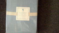 Pottery Barn Kids Chambray Sheet Set Twin Blue NIP
