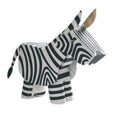 Zebra Paper Craft - Free